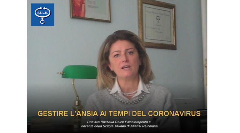 GESTIRE L'ANSIA AL TEMPO DEL CORONAVIRUS