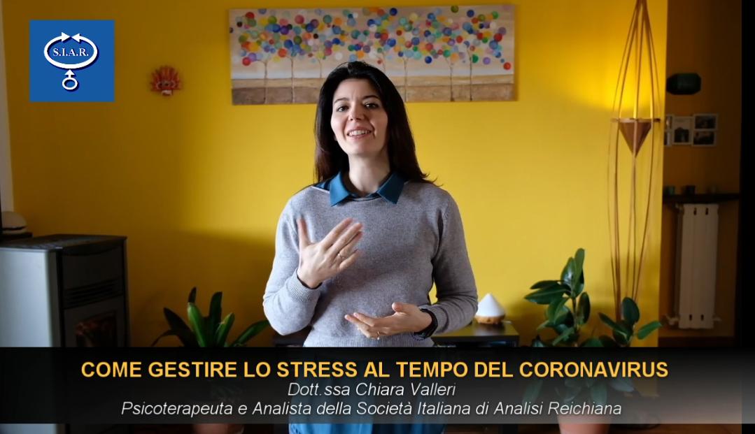 COME GESTIRE LO STRESS AL TEMPO DEL CORONAVIRUS